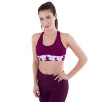 Liquido Fashion Philosophy Tie Dye Purple Racerback Bra
