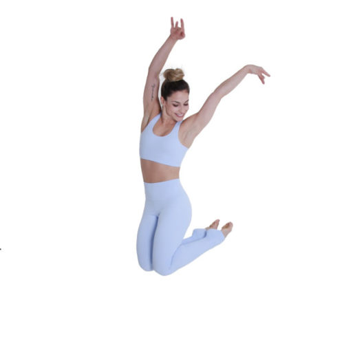 Ultra High-Waist Leggings Light Blue Liquido yogalegging sportlegging