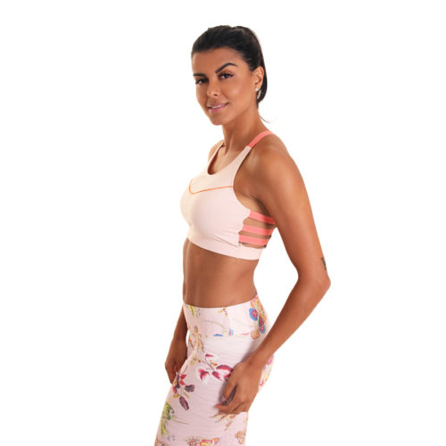 Turn Me Over Bra Light Pink yogakleding yogatop liquido fashion