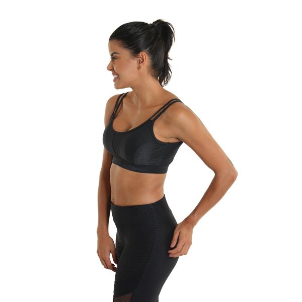 Liquido Fashion Hollywood Bra Black yogatop yogakleding sportbeha