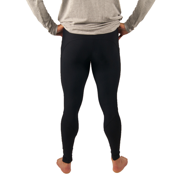 Liquido Fashion yogakleding mannenmode mannenlegging Bold Black Men's Legging Yoga