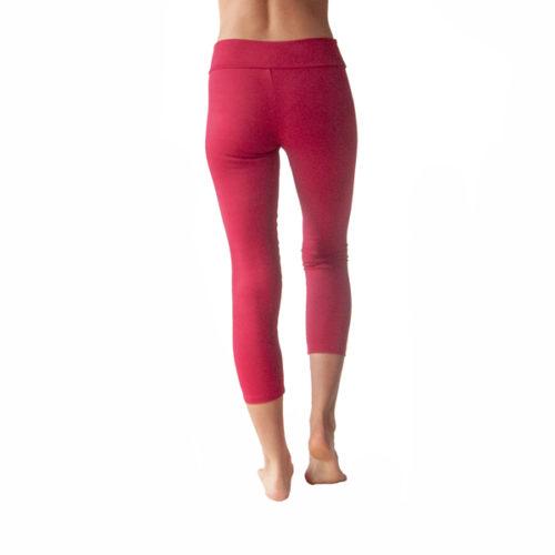 Liquido Fashion Praaiah Basic capri Cerise legging yogakleding