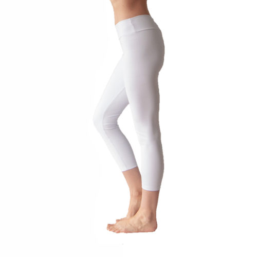 Liquido Fashion Praaiah Basic capri Cloud witte legging yogakleding