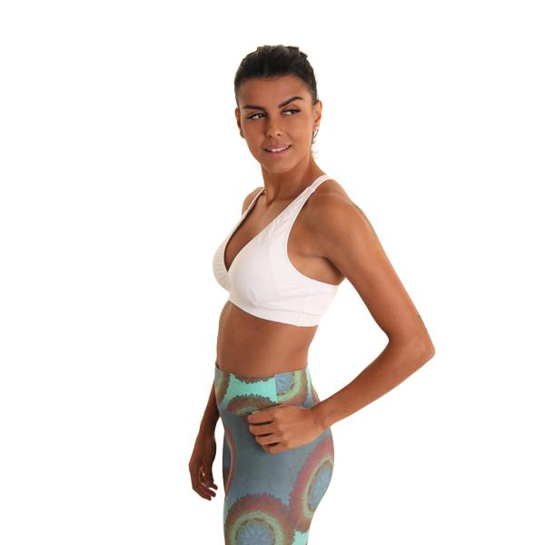 Liquido Fashion Scarlet Bra White sportbeha yogatop yogakleding