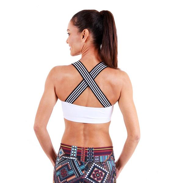 X-Back Bra New White liquido fashion yogakleding yogatop