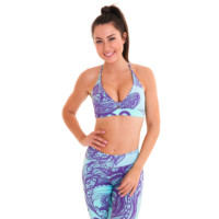Peaceful Paisley OmStars by Liquido sporttop yogatop yogakleding
