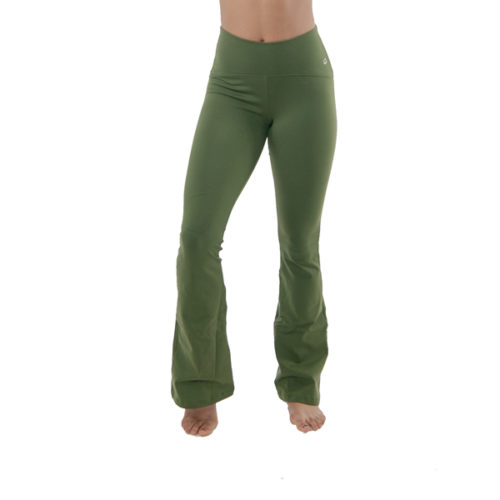 Liquido Fashion Supplex Legging Olive Flare yogakleding sportkleding
