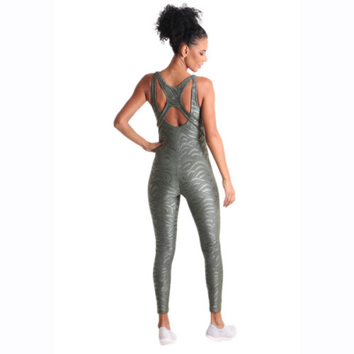 Liquido Fashion Sportkleding Graphic Bodysuit Metallic Green jumpsuit catsuit unitard onesie
