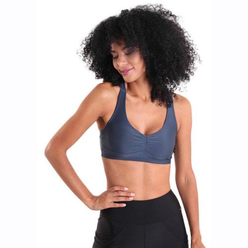 Liquido Fashion X-Back Bra Navy Blue sportkleding yogakleding sporttop yogatop