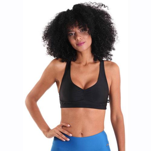 Liquido Fashion X-Back Bra Black Night sportkleding yogakleding sporttop yogatop