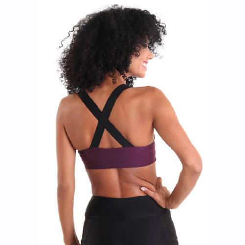 Liquido Fashion X-Back Bra Deep Purple sportkleding yogakleding sporttop yogatop