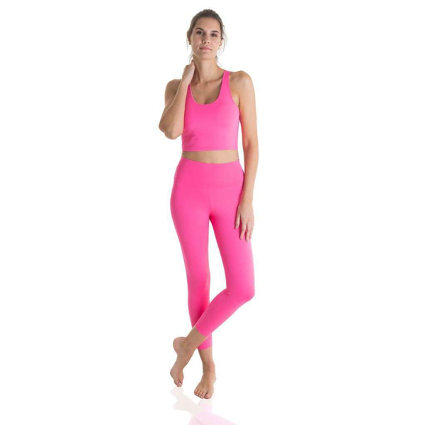 Ultra High-Waist Eco Legging Glitter pink Liquido Fashion