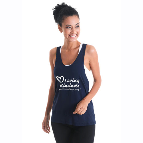 Liquido Fashion Racer Tank Black Loving Kindness yogatop yogashirt yogakleding