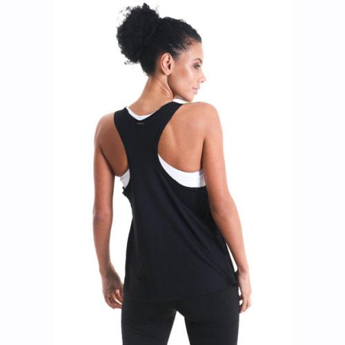 Liquido Fashion Racer Tank Black Yogini for Life yogatop yogashirt yogakleding