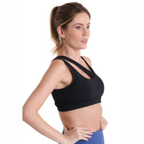 PPoeta Asymmetrical bra by Liquido Shooting star yogatop sportbeha yogakleding sportkleding