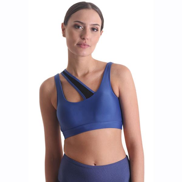 PPoeta Asymmetrical emana bra by Liquido Shooting star yogatop sportbeha yogakleding sportkleding