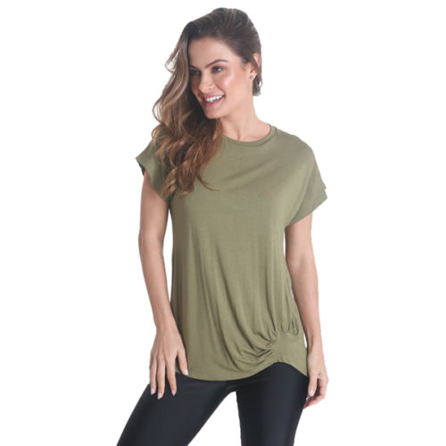 Liquido Fashion Go With The Flow Shirt Moss yogashirt sportshirt