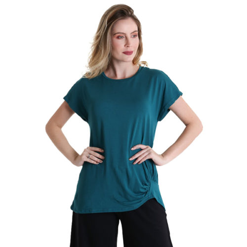 Liquido Fashion Go With The Flow Shirt Petrol yogashirt sportshirt