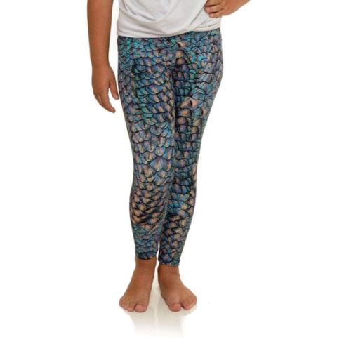 Liquido Fashion Mermaid Spell MiniMe Eco Kids Leggings kinderlegging zeemeermin
