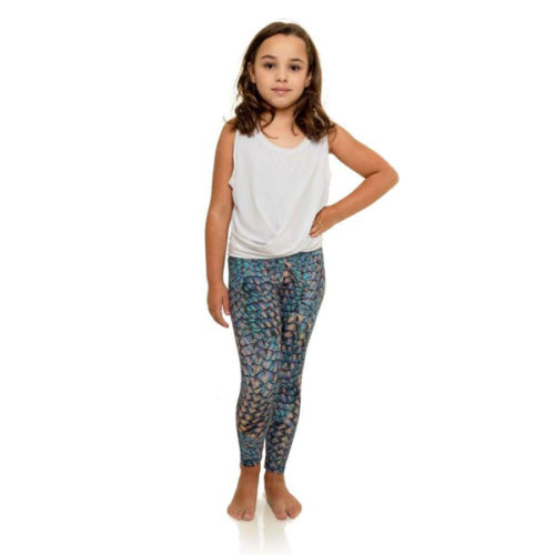 Liquido Fashion Mermaid Spell MiniMe Eco Kids Leggings kinderlegging zeemeermin