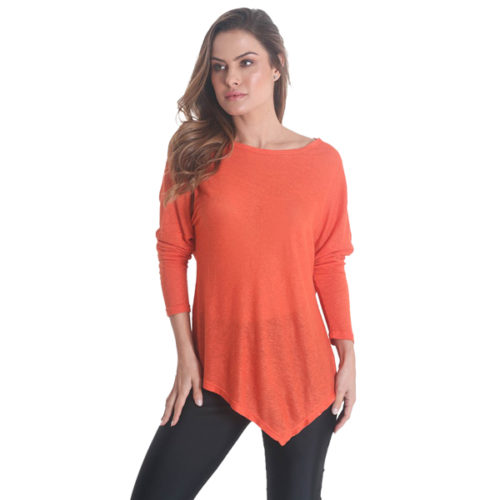 Liquido Fashion Point Out Longsleeve Orange yogashirt sportshirt