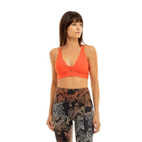 Liquido Fashion Spider Eco Bra Orange Sporttop yogatop