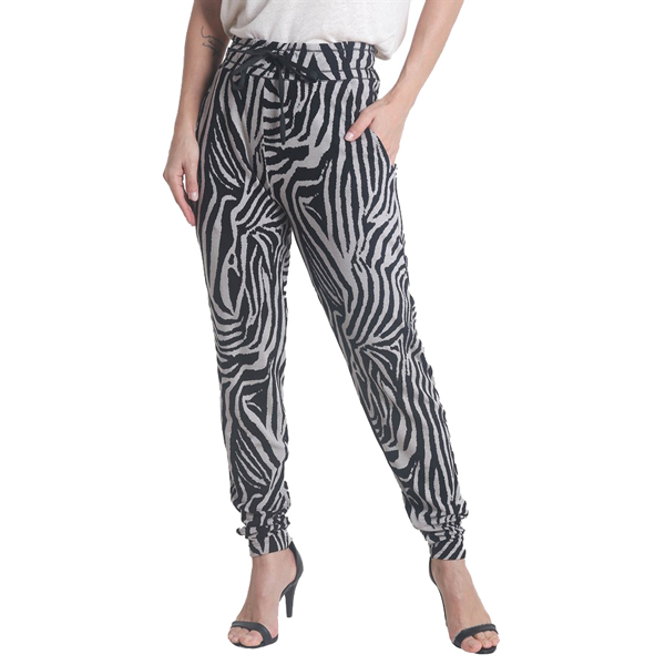 Liquido Fashion Zebra Lounge Pants yogabroek sportbroek joggingbroek