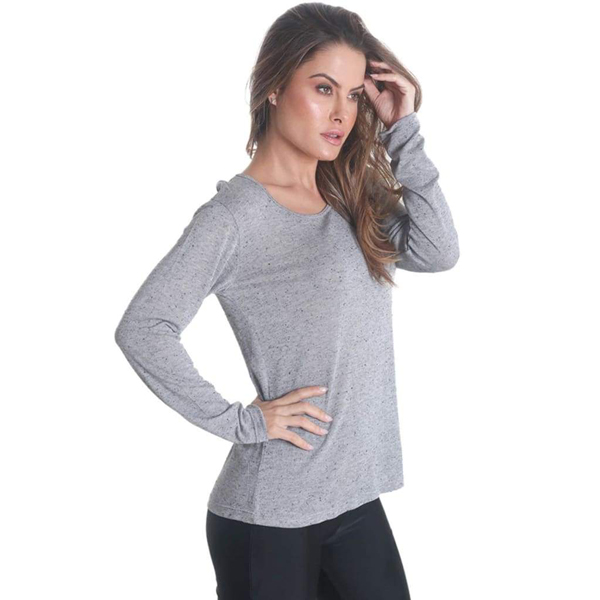 Liquido Fashion Crossback Longsleeve Grey yogashirt sportshirt yogakleding sportkleding