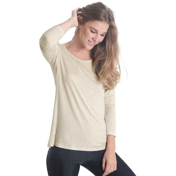 Liquido Fashion Crossback Longsleeve Off-White yogashirt sportshirt yogakleding sportkleding
