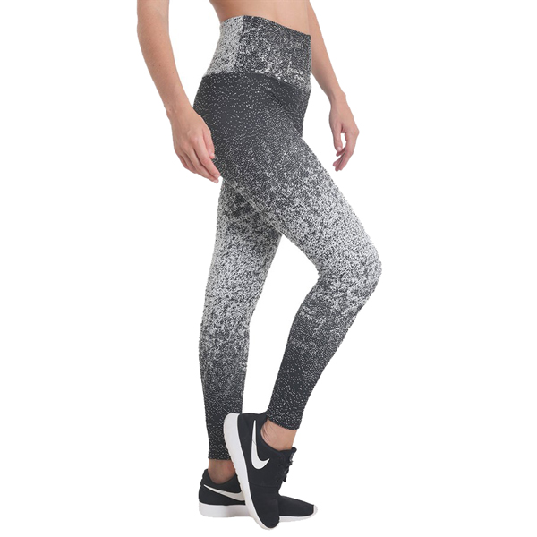 Liquido Fashion Jacquard Legging Snow sportlegging yogalegging zwart wit