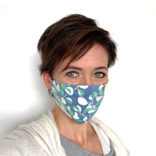 Liquido Fashion reversable facemask mondmasker Arandano herbruikbaar wasbaar