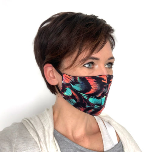 Liquido Fashion reversable facemask mondmasker Arica herbruikbaar wasbaar