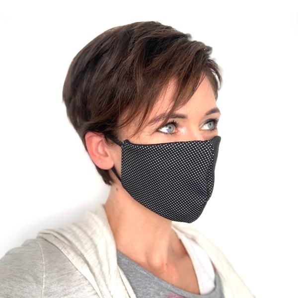 Liquido Fashion reversable facemask mondmasker Dotty herbruikbaar wasbaar
