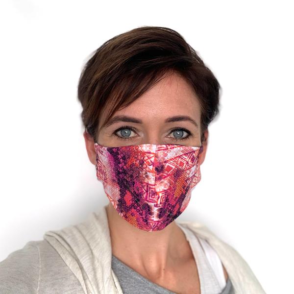 Liquido Fashion reversable facemask mondmasker Mapocho herbruikbaar wasbaar