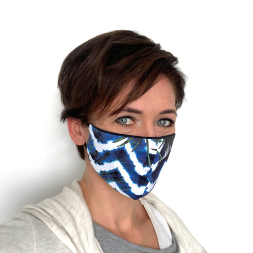 Liquido Fashion reversable facemask mondmasker nuble herbruikbaar wasbaar