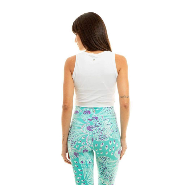Liquido Fashion Twist Crop Eco Top White yogatop sporttop
