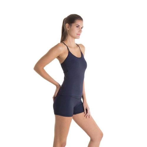 Liquido Fashion Singlet Eco Tankini Black sporttank yogatop