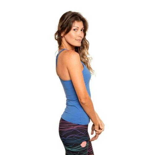Liquido Fashion Singlet Eco Tankini Blue sporttank yogatop