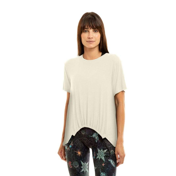Liquido Fashion Be Free Shirt Cream yogashirt sportshirt casual shirt