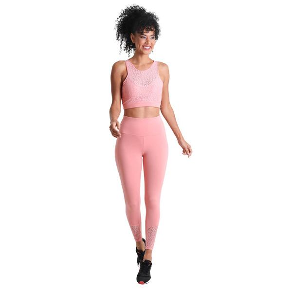 Liquido Fashion Supplex Bra Wild Lace Pink sporttop sportbeha yogatop