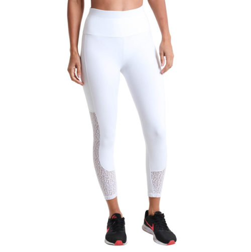Liquido Fashion Supplex Legging Wild Lace White sportlegging yogalegging