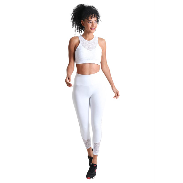 Liquido Fashion Supplex Bra Wild Lace White sporttop sportbeha yogatop