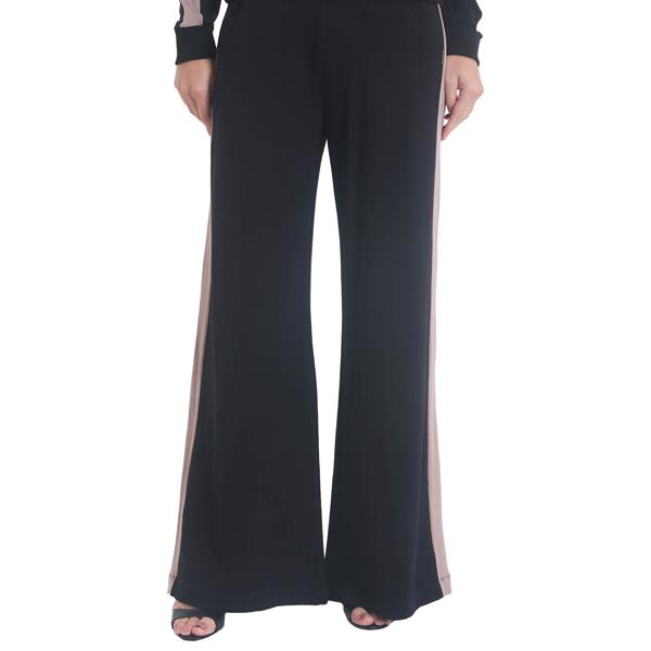 Liquido Benelux Pantalon Comfort Chic Black wijde broek loungepants