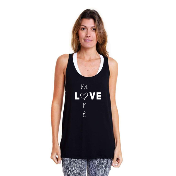 Liquido Benelux Twist Tank Black - Love More Yogashirt sportshirt