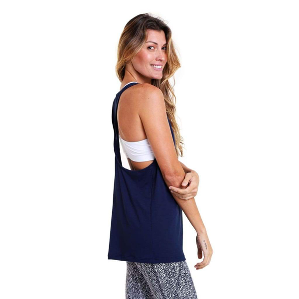 Liquido Benelux Twist Tank Navy - #Namaste Yogashirt