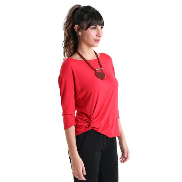 Liquido Benelux, Side Twist 7/8 Longsleeve Red, yogashirt, sportshirt